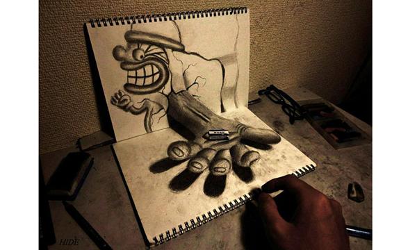 欺骗眼睛的艺术-3d铅笔画