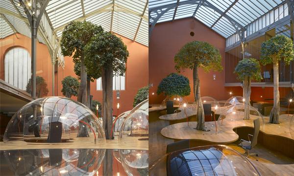 法國《Bubble Offices》泡泡辦公室 渡假般的辦公環境讓你工作不倦怠