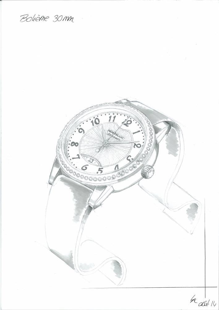 系列自动女仕腕表设计手绘
