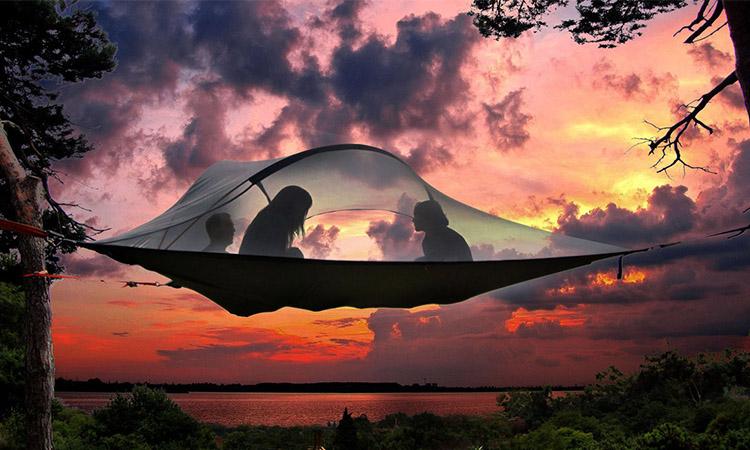 睡在海上、飄在空中都沒問題!英國Tentsile打造世界首款「水陸空」三棲萬用帳篷