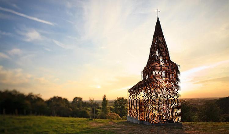 在比利時看見神蹟!每個角度都不同的「字裡行間」教堂 - La Vie行動家 設計改變世界