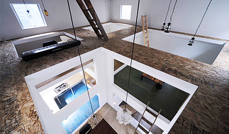 讓每間房都不在同一個水平線上!東京設計夫妻檔挑戰你腦海中的設計住宅! - La Vie行動家 設計改變世界