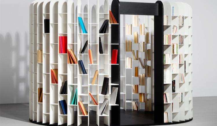 閱讀好設計 環繞式書架讓你感受沉浸在書海中的氛圍