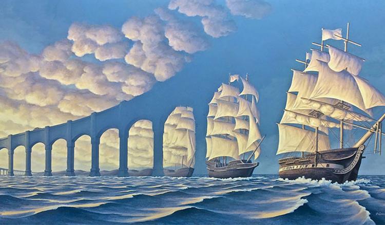 全是假象!神奇的空間錯覺藝術蒙蔽你的雙眼