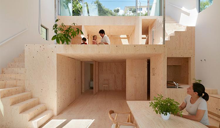 神戶舊屋+斜坡地,畑友洋構出斜坡住宅大空間