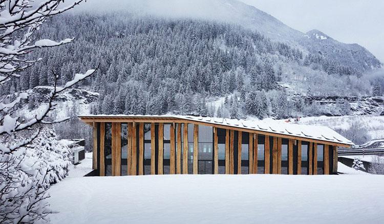 打造自然中的美景-隈研吾外柔內剛「弱建築」驚現於阿爾卑斯山!