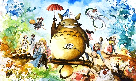 多想跟龍貓一起躺在草原睡午覺!比宮崎駿版本更夢幻的水彩吉卜力