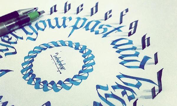 在紙上跳舞的字體,Tolga Girgin 3D 字體畫