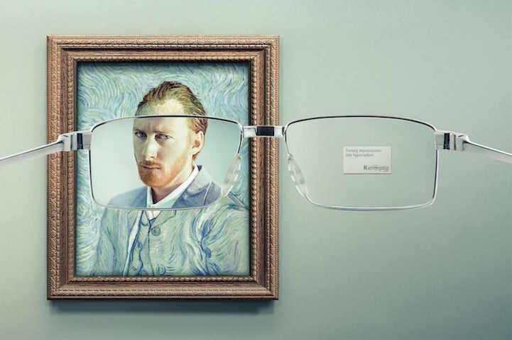 「原來梵谷長這樣!」巴黎趣味眼鏡廣告大開古典藝術畫作玩笑 - LaVie 設計改變世界