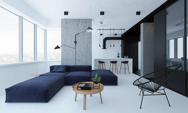 極簡得恰到好處!黑白灰三色女子單身公寓展現品味個性 - La Vie行動家 設計改變世界