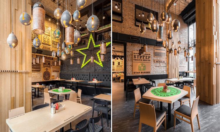 粗曠美學再興!漢堡店也走工業風!烏克蘭基輔由銀行改建的工業風漢堡店Star Burger - La Vie行動家 設計改變世界