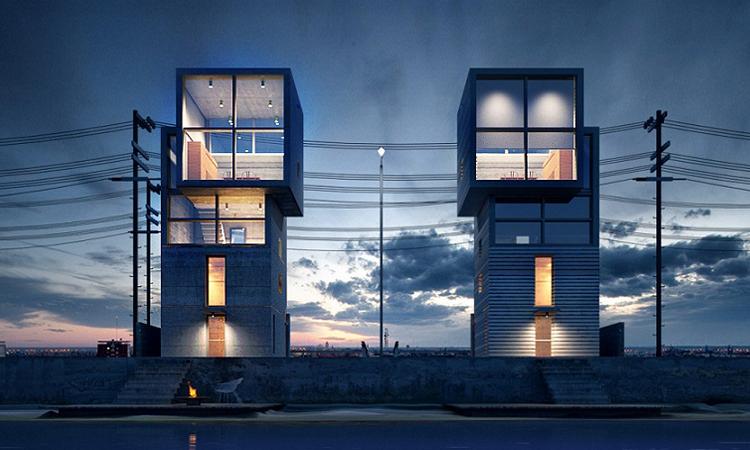 追憶安藤忠雄的4 X 4公尺雙胞胎微住宅!成雙成對面向海岸紀念阪神地震