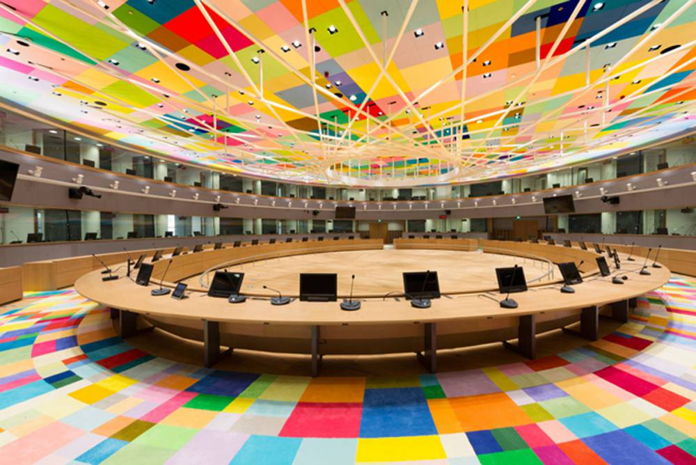 看看28國歐洲元首的會議室!一訪歐盟全新建造的燈籠型總部