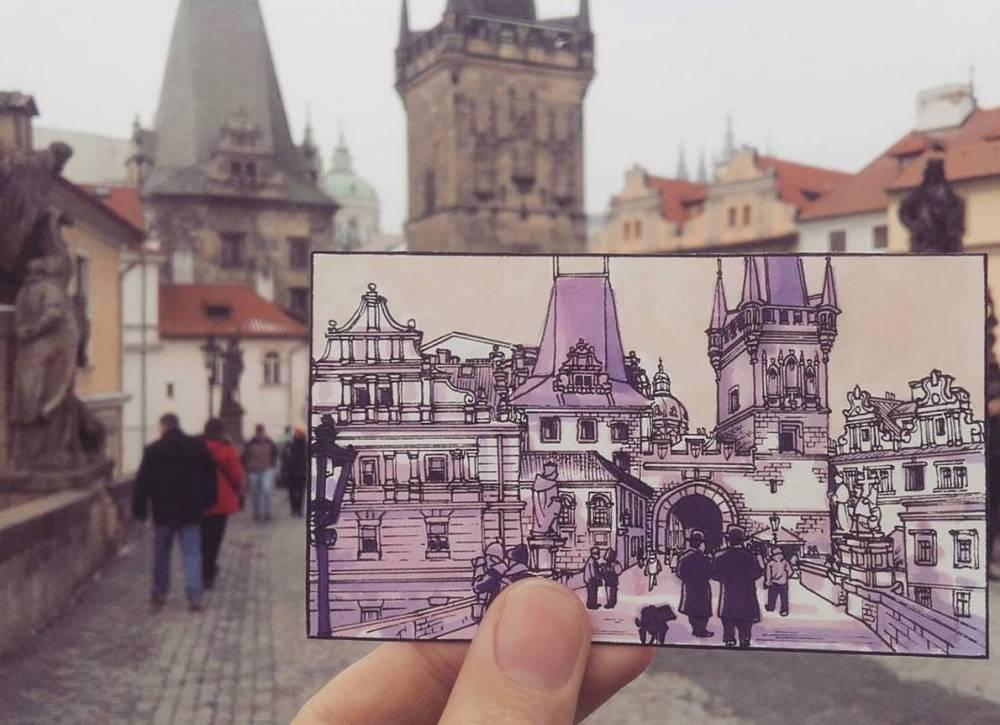 用插畫記錄旅行!澳洲藝術家Maxwell Tilse手繪城市美貌 - La Vie行動家 設計改變世界