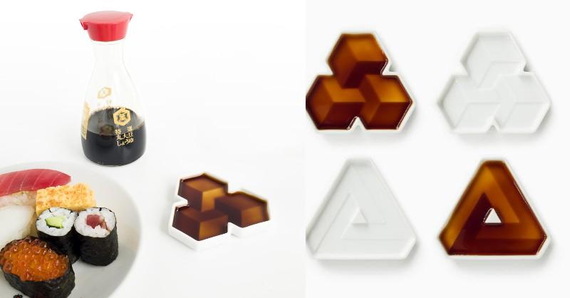 小碟子裡的維度空間,超有層次感的醬油碟Soy Shape - LaVie 設計改變世界