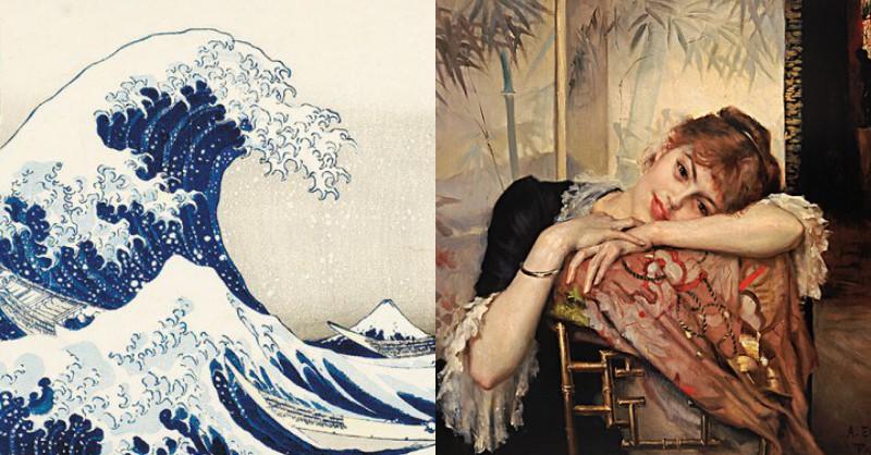 當北歐遇見日本!穿越150年的哈日狂潮 浮世繪、異國情調、花草鳥獸等19世紀最潮和風元素