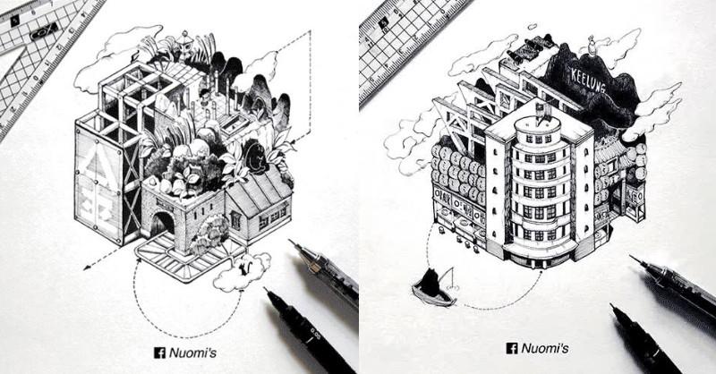 插畫的魔法,Nuomi 讓台灣老建築變成移動城堡!