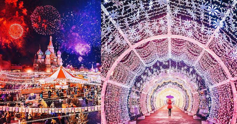 原來俄羅斯的聖誕節不是12月25日!莫斯科冬季夢幻燈光佈置彷若掉進歐洲童話世界!