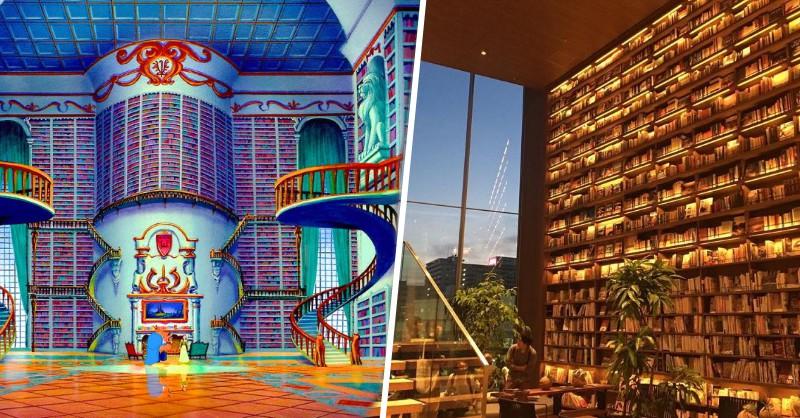 就像是「美女與野獸」裡會出現的圖書館!大阪・枚方市車站前的星巴克超厲害! - La Vie行動家 設計改變世界