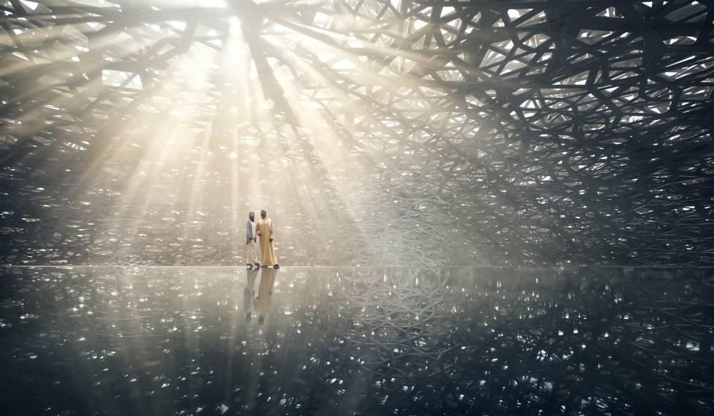 普立茲克獎建築師Jean Nouvel操刀! 阿布達比羅浮宮銀色穹頂灑下絕美繁星「光雨」 - La Vie行動家 設計改變世界