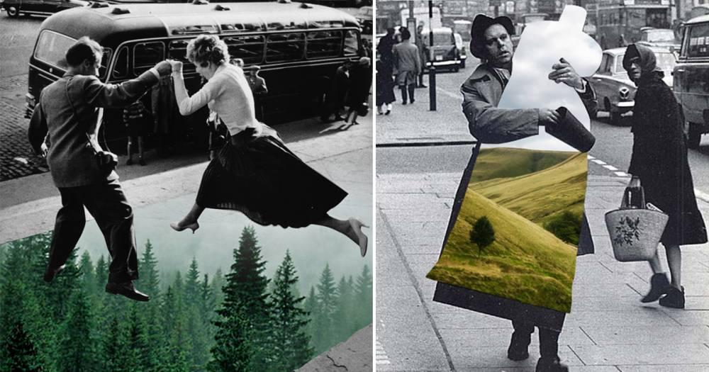 復古黑白照片混搭風景意外契合 玩味十足的超現實另類藝術! - La Vie行動家 設計改變世界