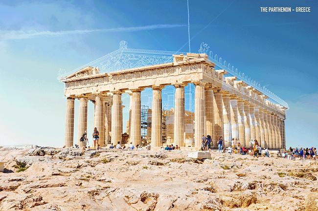 用GIF重建七大知名古蹟建築!雅典帕德嫩神殿、馬雅金字塔再現壯觀風貌 - LaVie 設計改變世界