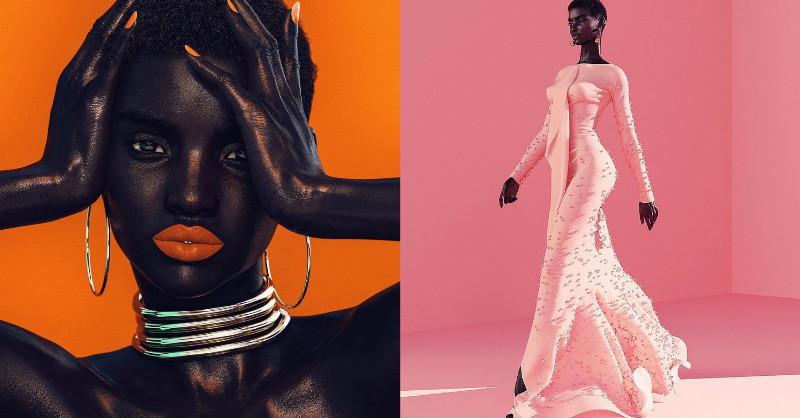11頭身完美比例、零瑕疵肌膚?全球首位「虛擬黑人超模」Shudu Gram引發時尚界熱議