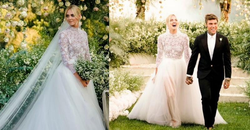 宛若葛麗絲王妃優雅婚紗!揭開義大利時尚部落客Chiara Ferragni兩套Dior夢幻婚紗製作祕辛