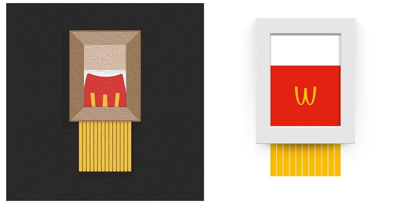 跟進Banksy碎毀《氣球女孩》舉動?麥當勞薯條、梵谷都被碎掉了!