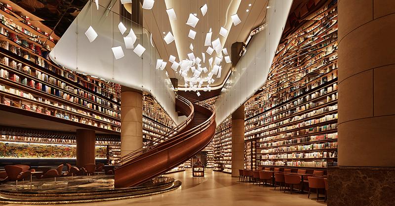 全球最美書店+1!中國西安「言几又」書店 蔦屋設計師讓10公尺書牆遇上13萬冊藏書 - LaVie 設計改變世界