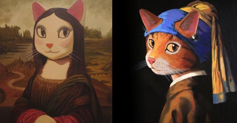蒙娜麗莎變成貓星人?《貓美術館–CAT ART世界名畫展》亮相台北花博 日本畫家山本修讓名畫通通喵化 - LaVie 設計改變世界